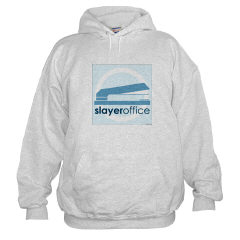 Hooded sweatshirt with the slayeroffice logo