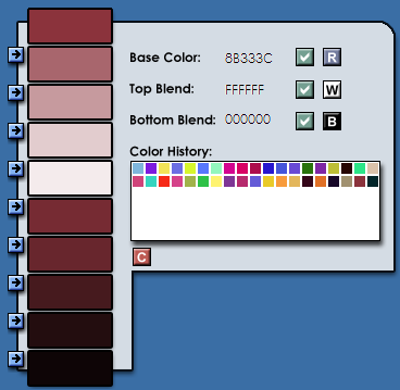 Color Palette Creator for Konfabulator Screen Shot.